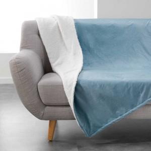 Kožušinová deka jednofarebná modrá AUSTRAL