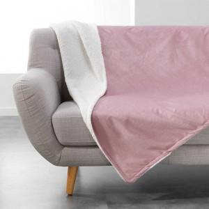 Jednofarebná deka púdrovo ružová AUSTRAL