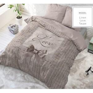 Kvalitné béžové posteľné obliečky z bavlny