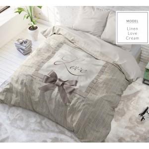 Krémové romantické posteľné obliečky s mašličkou