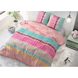 Pestrofarebné návliečky na posteľ ACHIE PINK