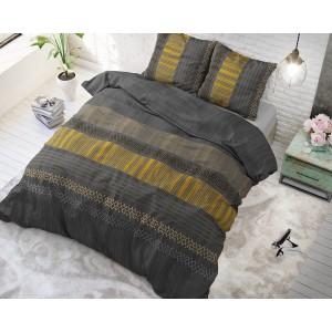 Tmavo sivé posteľné obliečky v modernom dizajne ACHIE ANTHRACITE