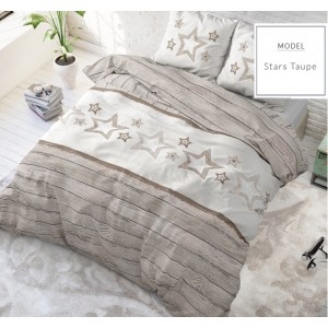 Vintage posteľné obliečky s hviezdami v béžovej farbe