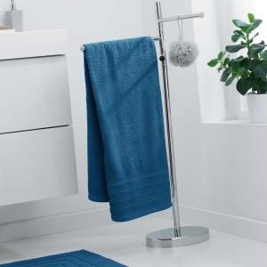 Savý uterák z mäkkej bavlny v modrej farbe