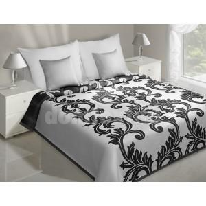 Biele prehozy na posteľ s čiernym vzorom