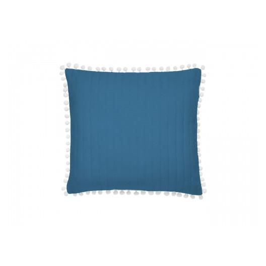 Krásna modrá obliečka na vankúš k prehozu