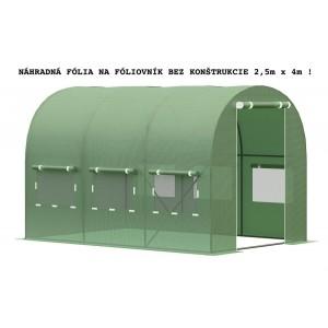 Náhradná fólia bez konštrukcie na fóliovník 2,5m x 4m