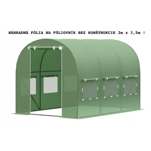 Fólia bez konštrukcie na záhradný fóliovník 2m x 3,5m