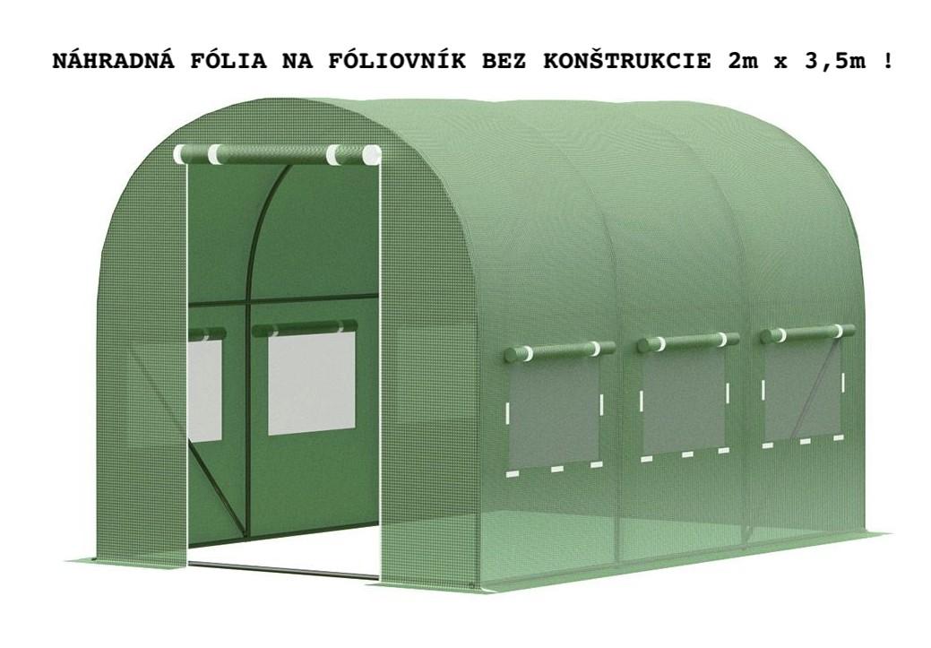 DomTextilu Fólia bez konštrukcie na záhradný fóliovník 2m x 3,5m 19553