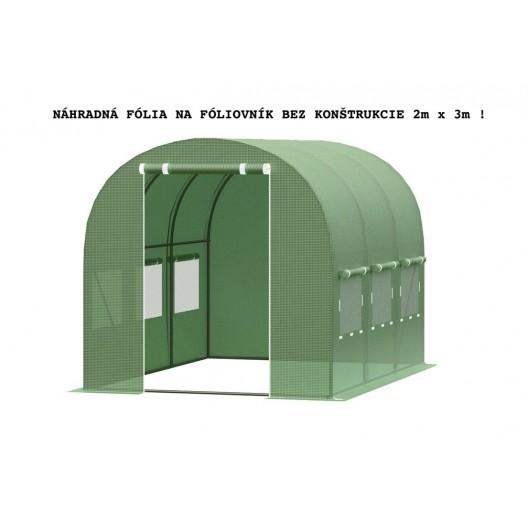 UV plachta na fóliovník s otvormi na dvere a okná bez konštrukcie 2x3m