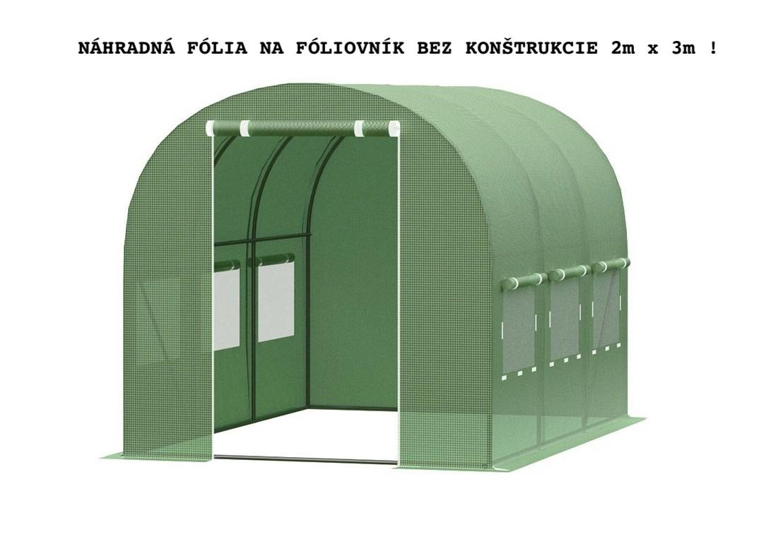 DomTextilu UV plachta na fóliovník s otvormi na dvere a okná bez konštrukcie 2x3m 19555