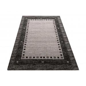 Štýlový koberec v sivej farbe