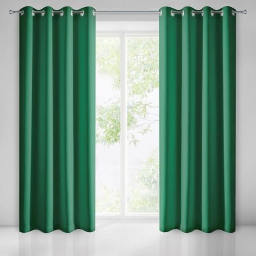 Štýlový zelený záves na okná