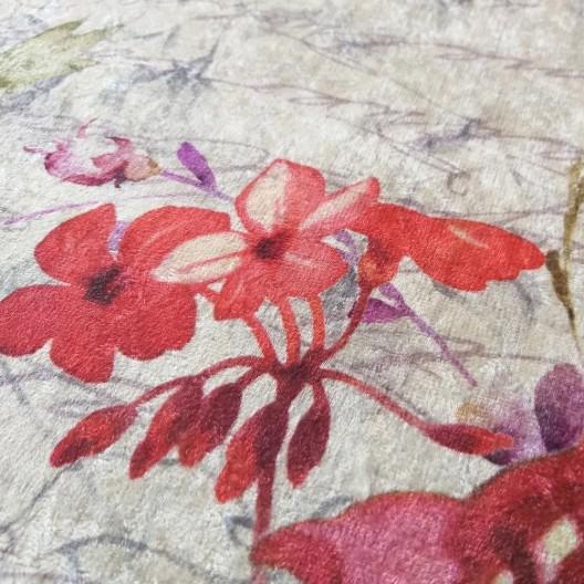 Krásny koberec do obývačky s výraznými kvetmi