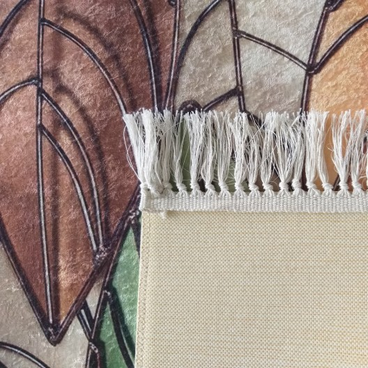 Moderný koberec s motívom listov