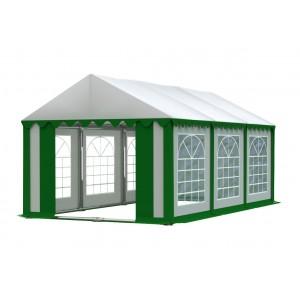 Kvalitný zeleno biely pártystan s bielou strechou