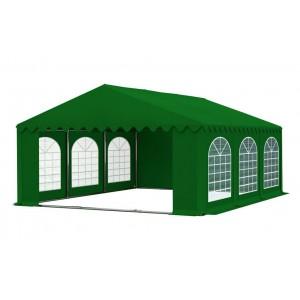 Kvalitný zelený pártystan s oknami a pevnou konštrukciou