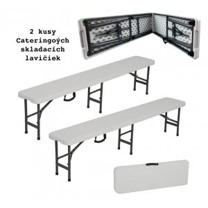 Sada dvoch kusov cateringových skladacích lavičiek