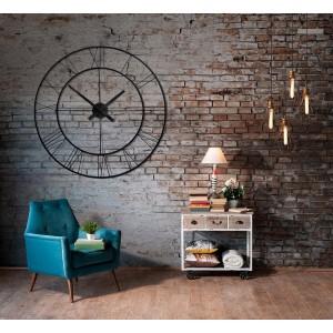 Kovové nástenné hodiny do obývačky