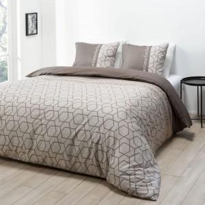 Kvalitné posteľné obliečky v hnedej farbe 200 x 220 cm