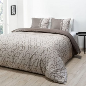 Kvalitné posteľné obliečky v hnedej farbe 160 x 200 cm