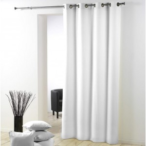 Jednoduchý a elegantný biely záves 140 x 280 cm