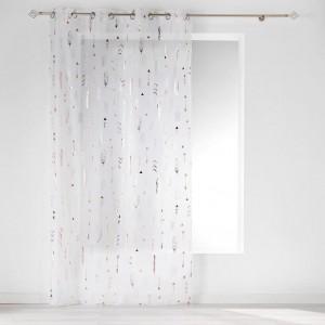 Dlhá záclona na okná s medeným detailom 140 x 240 cm