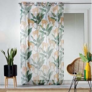 Záclona na okno s motívom džungle 140 x 240 cm