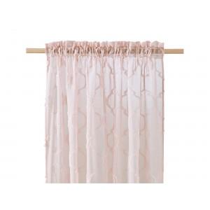 Originálna záclona v púdrovej farbe do obývačky 140 x 250 cm