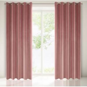 Tmavo ružový zamatový záves na okno 140 x 250 cm