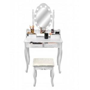 Kvalitný toaletný stolík so zrkadlom a LED svetielkami