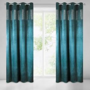 Tieniaci záves v petrolejovej farbe na okno 140 x 250 cm