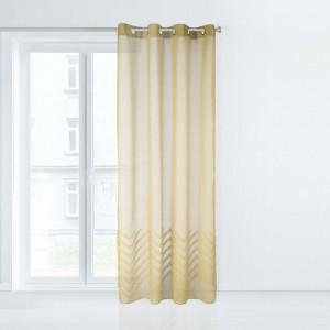 Štýlová žltá záclona so vzorom na spodnej časti 140 x 250 cm