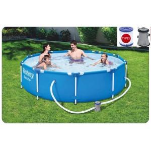 Veľký pevný bazén s filtráciou 305 cm x 76 cm