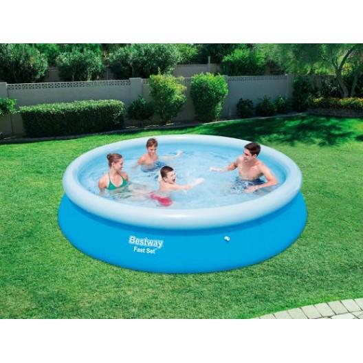 Veľký bazén s nafukovacím okrajom na záhradu bez filtrácie 366 x 76 cm