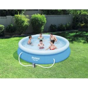 Kvalitný bazén na záhradu s filtráciou 366 x 76 cm