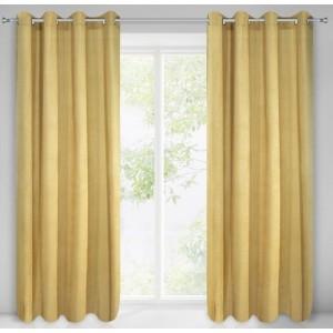 Štýlový žltý záves na okno 140 x 250 cm