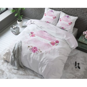 Bavlnené ružové posteľné obliečky JE'TAIME 200 x 220 cm