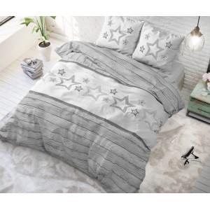 Originálne sivé posteľné obliečky STARS 200 x 200 cm