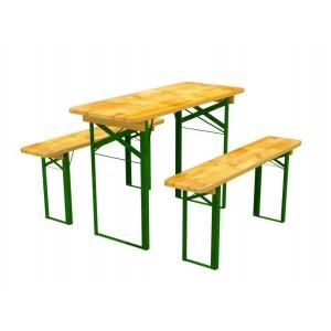 Záhradný nábytok z dreva stôl a lavičky