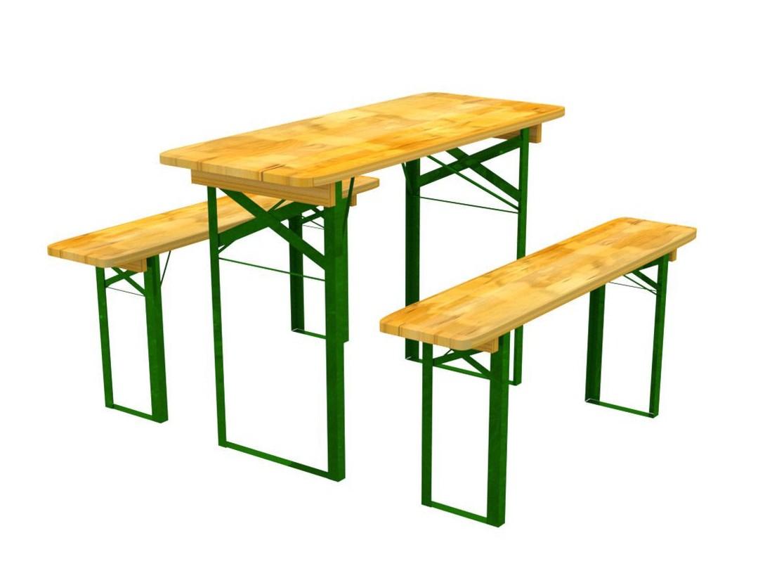 Záhradný nábytok z dreva stôl a lavičky 60 x 120 cm