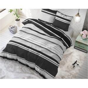 Elegantné posteľné obliečky s čiernymi pruhmi 140 x 200 cm