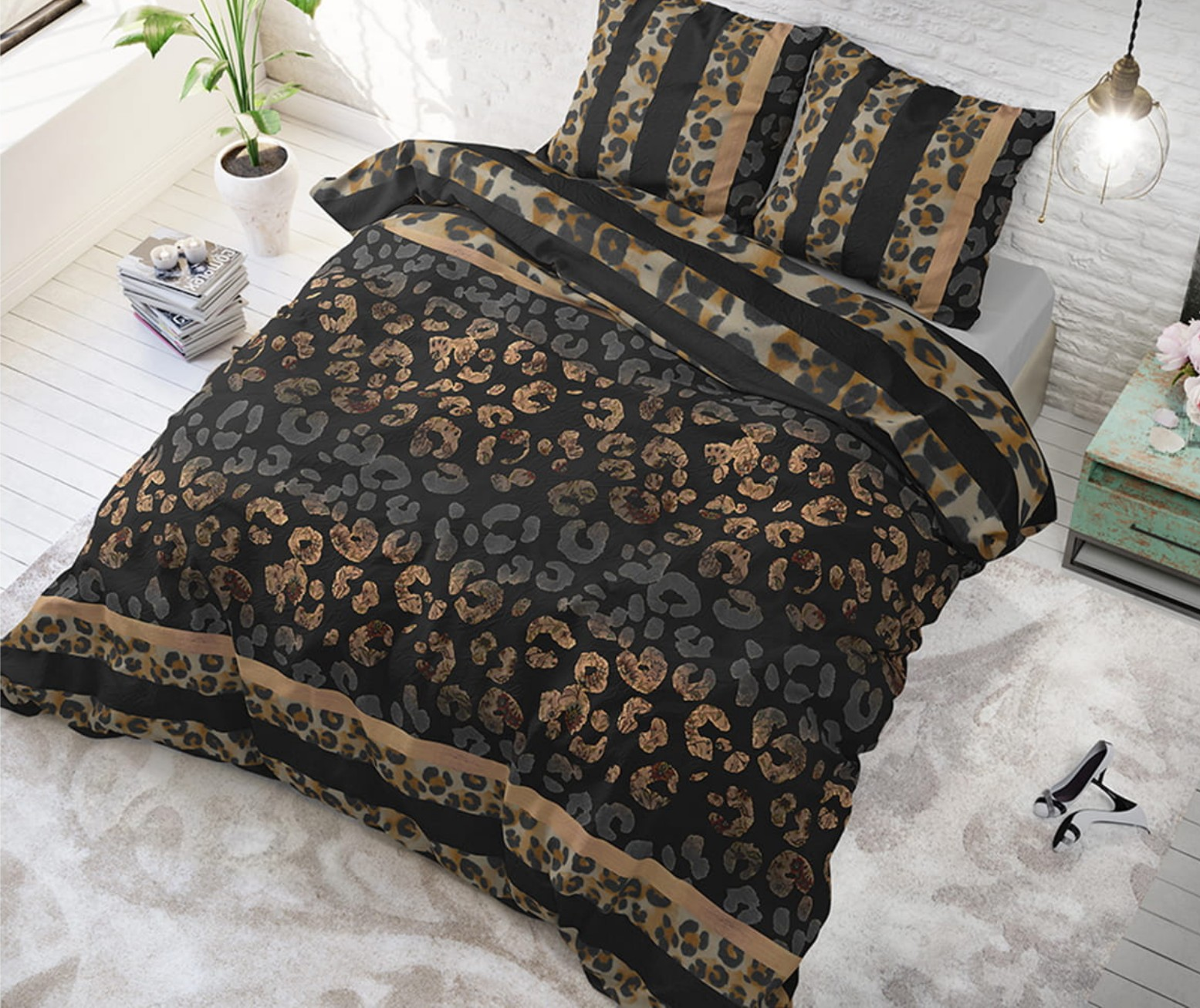 DomTextilu Originálne posteľné obliečky PANTHER 140 x 200 cm 21136