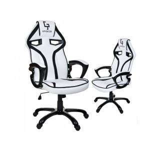 Kvalitné bielo čierne kancelárske kreslo na kolieskach