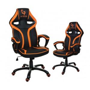 Oranžovo čierne otáčacie kreslo do kancelárie