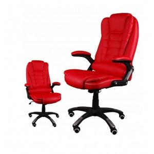 Moderné kancelárske kreslo v červenej farbe