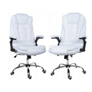 Kvalitné kreslo v bielej farbe do kancelárie
