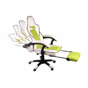 Pohodlné kancelárske kreslo s opierkou na nohy