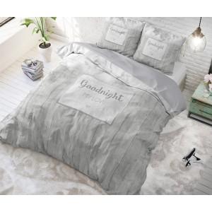 Sivé posteľné obliečky s motívom MR AND MRS 220 x 240 cm