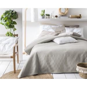 Moderný béžový prehoz na posteľ 200 x 220 cm